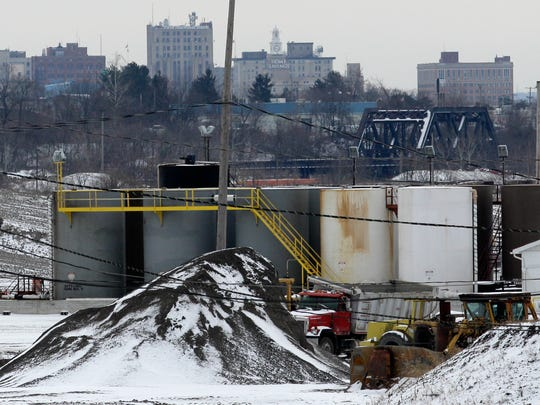 A brine injection well sits idle in Youngstown in 2012.