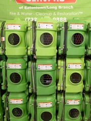 Stacks of air scrubbers used by Servpro of Eatontown/Long Branch.