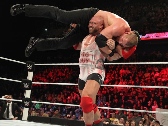 Ryback shows off his skills in the ring.