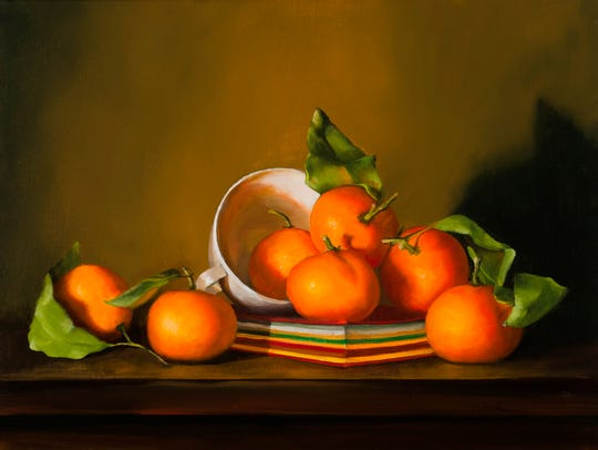 Mandarins and Sketch book by Pat Tribastone.