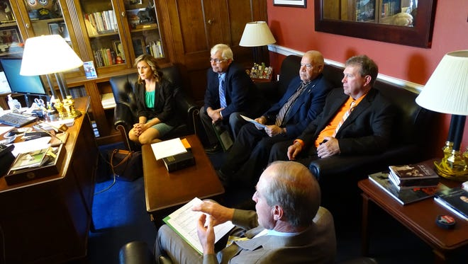 U.S. Rep. Reid Ribble meets with constituents from Northeast Wisconsin, including Lauren Brey of Sturgeon Bay.