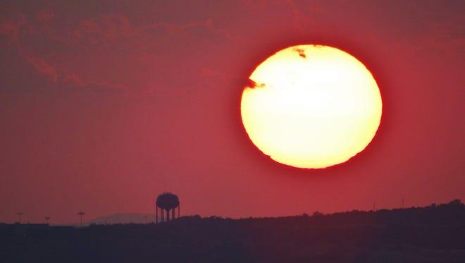 A hot sunset.