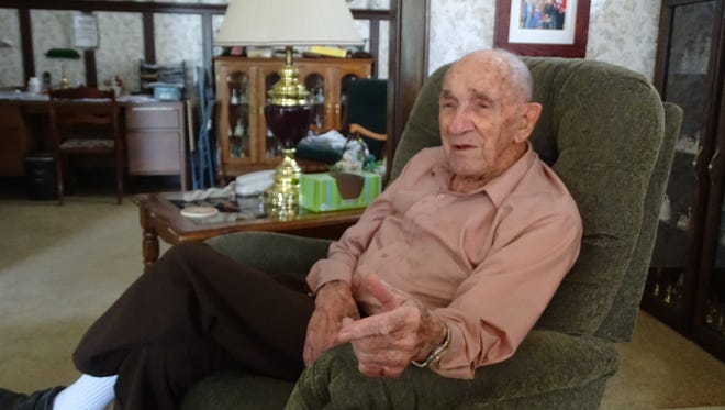 "Robert ""Bill"" Hagans, of Coshocton, recalls that food was scare and shelter rare during the eight months that Germans held him prisoner during World War II."