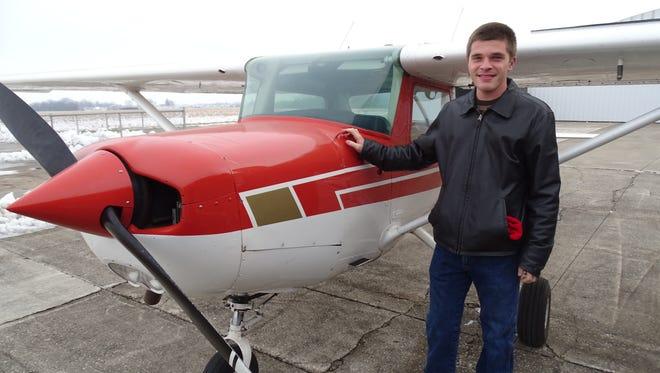 Flight instructor Tyler Bowes.