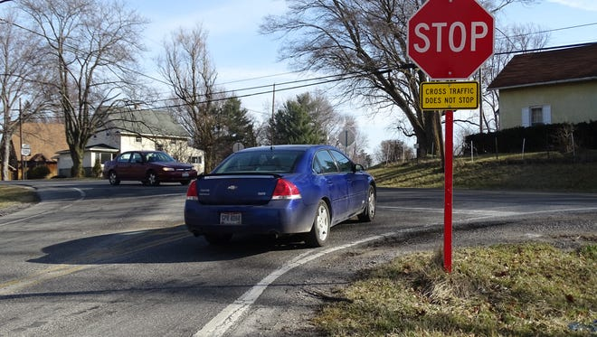 A car on County Road 175 waits for oncoming traffic to pass on Ohio 101, where eight crashes have occurred over the last six years.