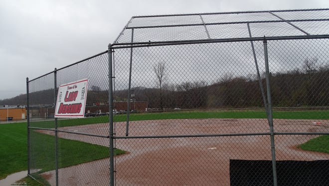 A picture of Coshocton's Alvin Altman Field after a rain storm on Friday that postponed all area games.
