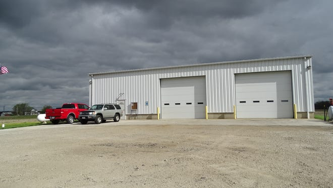 The Rice Township maintenance building at the corner of Ohio 19 and County Road 119 is expected to double in size in the next two years, with the addition housing a fire engine from the Lindsey Fire Department.