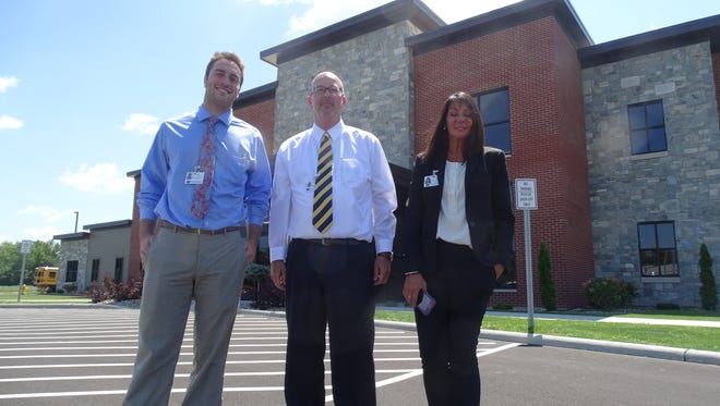 The new Community Health Services facility at 2221 Hayes Ave. is more than twice the size of the former facility at 410 Birchard Ave. Standing left to right are Dan O'Beirn, CHS intern and recent Bowling Green State University graduate, CHS CEO Joe Liszak, and Linda Thiel, director of Marketing and provider recruitment for CHS.