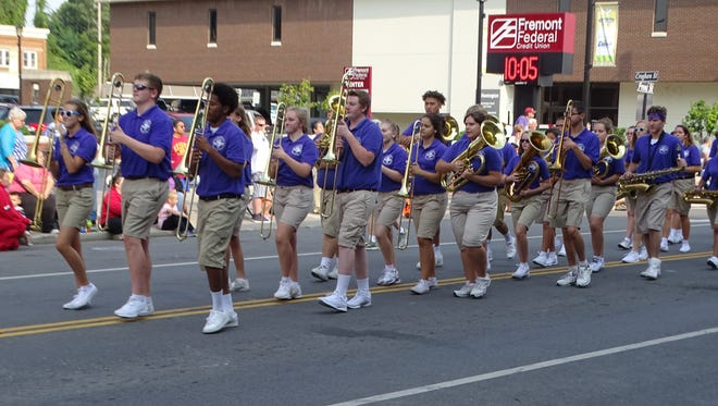 Fremont Ross' marching band led the Labor Day parade route through Front Street in downtown Fremont.