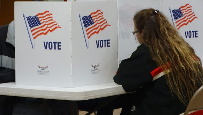 Voter turnout in Clyde is expected to be higher than normal a poll worker said Tuesday.