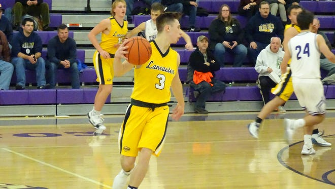 Lancaster's Jaycob England scored 16 points and had six assists and six rebounds in the Golden Gales' 57-50 loss at Logan on Tuesday.