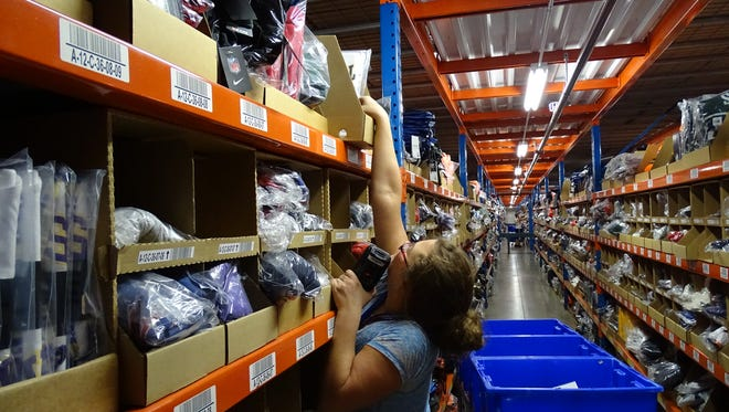 Fanatics distribution center in Frazesyburg opened  in 2013. The company will hold a job fair on Saturday, in Licking County, to fill more than 1,000 season positions.
