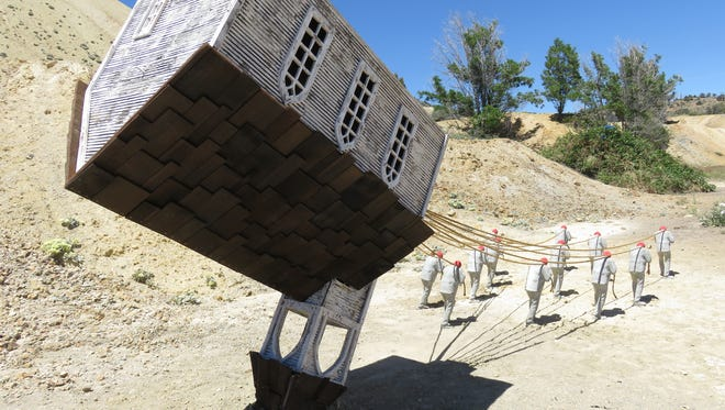 The Upside Down Church is the work of Kings Beach, Calif. artist Sam Shear.