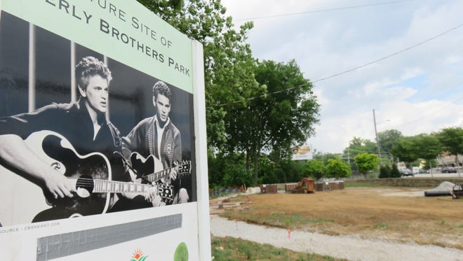 Everly Brothers sign has announced plans for park for three years.