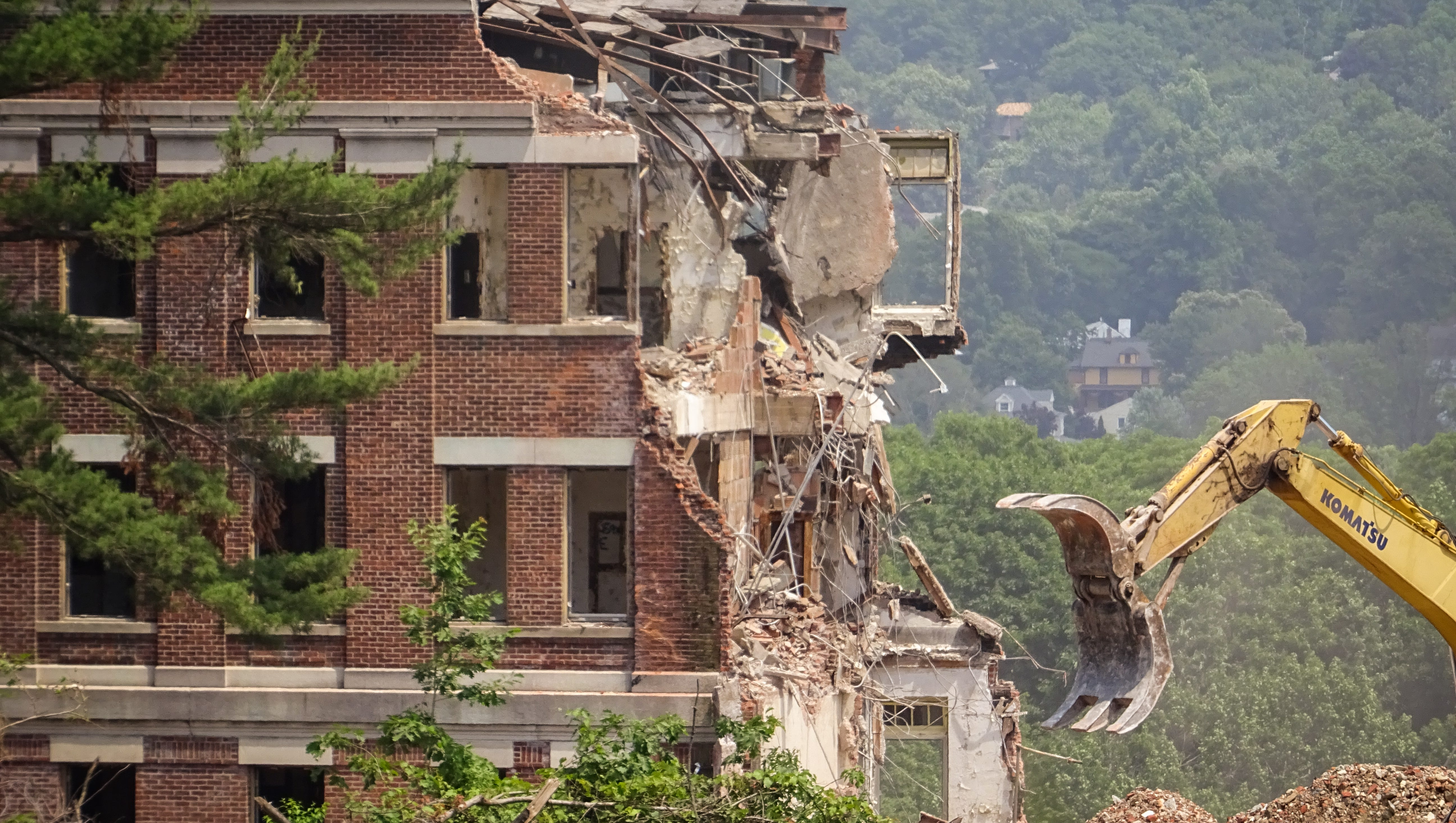 New Jersey Historic Overbrook Hospital Buildings Are Demolished