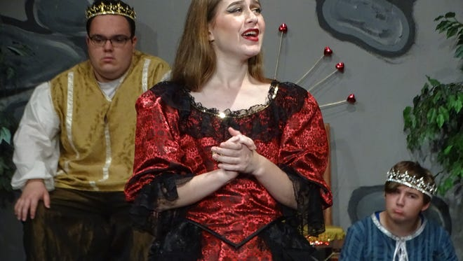 """Rachel Hofacker of Fremont portrays Queen Aggravain in the Fremont Community Teen Theatre's presentation of """"Once Upon A Mattress."""" The musical starts Friday at the Fremont Community Theatre."""