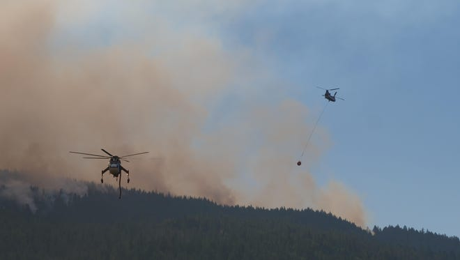Fire teams made progress slowing the growth of the Taylor Creek Fire near Galice and the Rogue River.