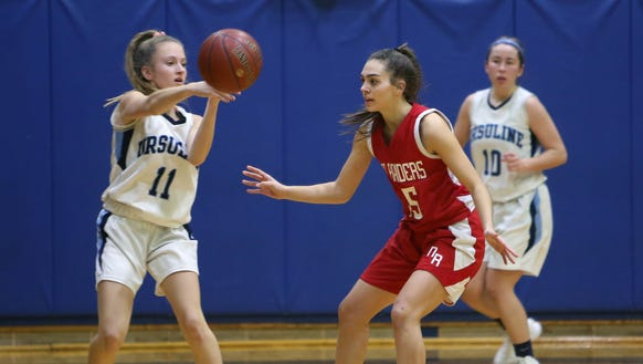 Ursuline defeated North Rockland 57-46  during girls