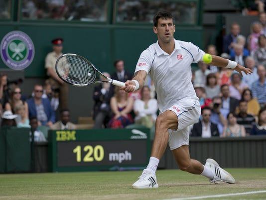 Tennis: Wimbledon Djokovic vs Federer