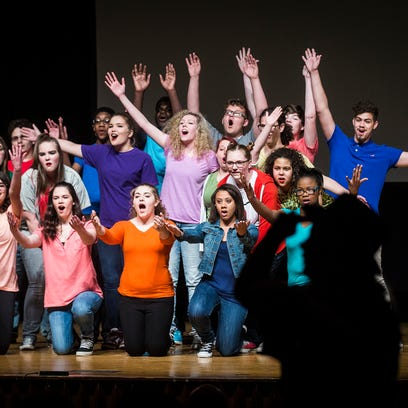 Central students perform A Musical? in Central's Auditorium