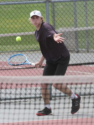 Lexington sophomore Benton Drake dropped only nine games in five matches en route to a Division II sectional singles title.
