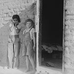 Drought refugee families are mingled with and supplanted Mexican laborers in the Southwest, including Chandler in May 1937.