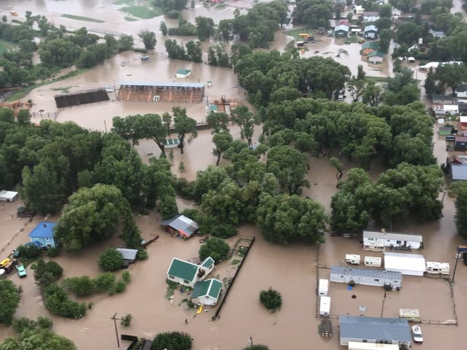 Montana Flooding Helicopter Rescues Dogs In Augusta Flood