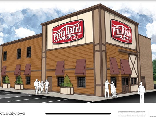 The design for the new Iowa City location of Pizza