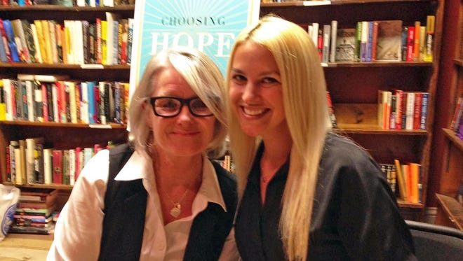 Robin Gaby Fisher (left), a Somerville resident and director of the Journalism and Media Studies Program at Rutgers University-Newark, and Kaitlin Roig-DeBellis co-authored 'Choosing Hope: Moving Forward from Life's Darkest Hours.'