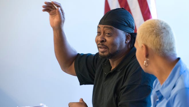 Pathways for Change client, Leonard Ruffin, shares his experiences in dealing with substance abuse during a skills class at the organizations new Family Center.