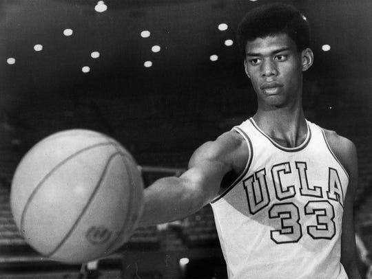 Kareem Abdul-Jabbar (formerly Lew Alcindor) of UCLA