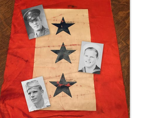 The Bowder brothers all served during World War II and their mother hung this service flag in their home. The flag was discovered at a rummage sale, and the Statesman Journal helped track down the family.