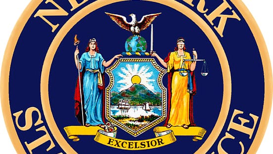 The state police seal.