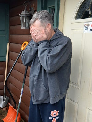 Karl Jonsson of Gresham reacts as he is told he is the $1 million Publisher's Clearinghouse Sweepstakes winner Tuesday.