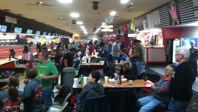 The past two Bowlin' for Kids Fundraisers have raised nearly $5,000 for Toys for Tots.