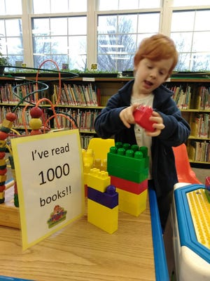 Oliver, a young reader who visits Millville Public Library with his family, participated in the library's 1,000 Books Before Kindergarten Program. With help from his family, he recently achieved his goal of reading 1,000 books. For information on the program, call the library at (856) 825-7087 or visit www.millvillepubliclibrary.org.