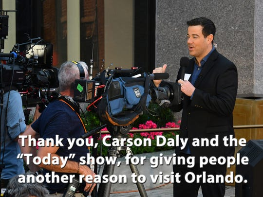 "Carson Daly was broadcasting live with the Today show for the April 6 Grand Opening for ""Race Through New York Starring Jimmy Fallon"" at Universal Orlando Resort."
