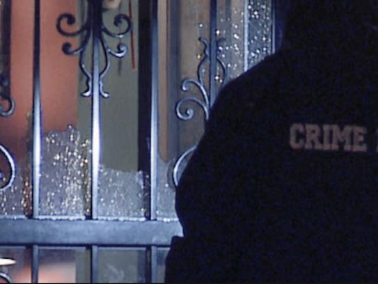 Henry Nunn, 63, was shot through his home's door in