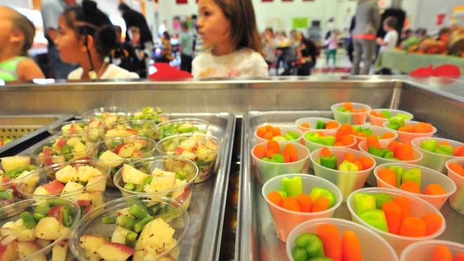 A file photo of a school lunch in Delaware.