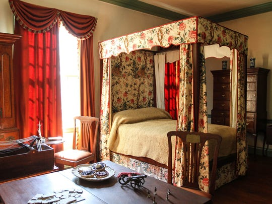 Mrs. Ford's converted bedroom during George Washington's time at the Ford Mansion at Washington Headquarters in Morristown.