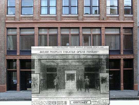 The front of the Willey Block with Roger Luther's merger