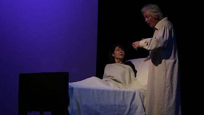 "Lauren Drexler and Jim Yarnes in a scene from Theatre Conspiracy's ""33 Variations"""