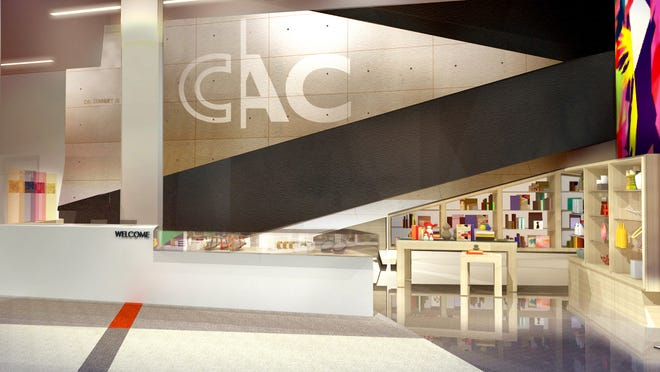 This rendering shows the planned lobby redesign at the Contemporary Arts Center. The Downtown arts venue is undergoing a $1.1 million renovation that is slated to be complete in March 2015.