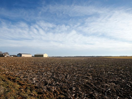 The Port Penn farm of Jaymes Lester is shown on Feb.