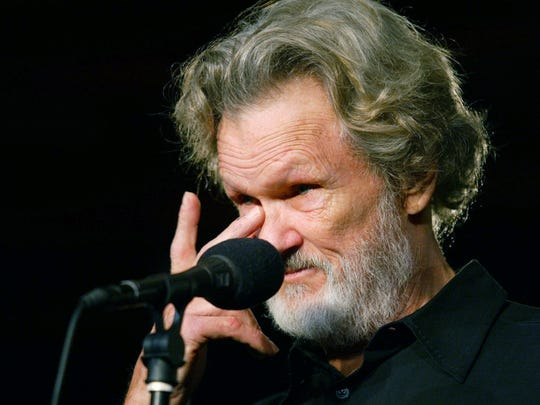 Kris Kristofferson wipes a tear during interviews about this relationship with Johnny Cash at Tootsie's Orchid Lounge before the Johnny Cash memorial tribute Nov. 10, 2003.
