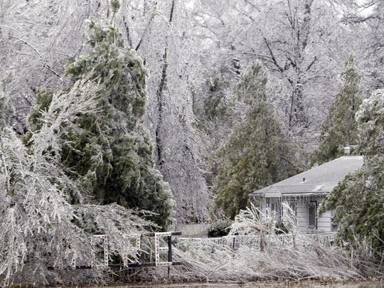 The January 2005 ice storm covered trees, power lines and houses and brought the community to a standstill.