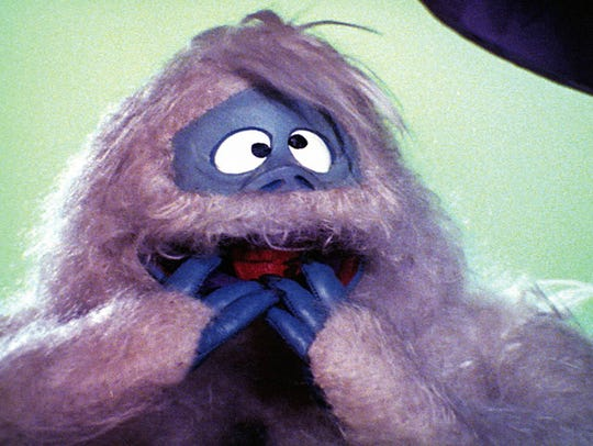 """The abominable snow monster from """"Rudolph the Red-Nosed Reindeer."""""""