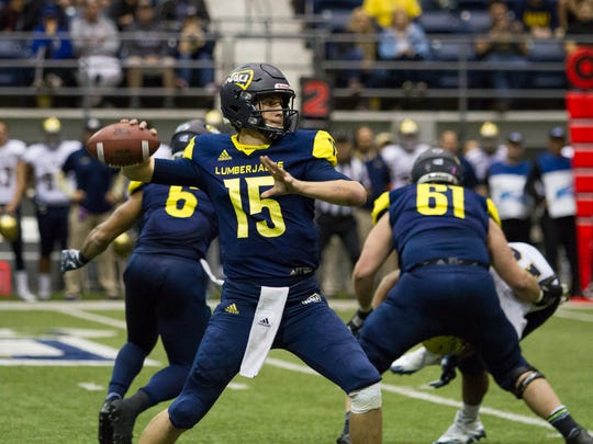 Northern Arizona's Case Cookus was first-team All-Big Sky last season