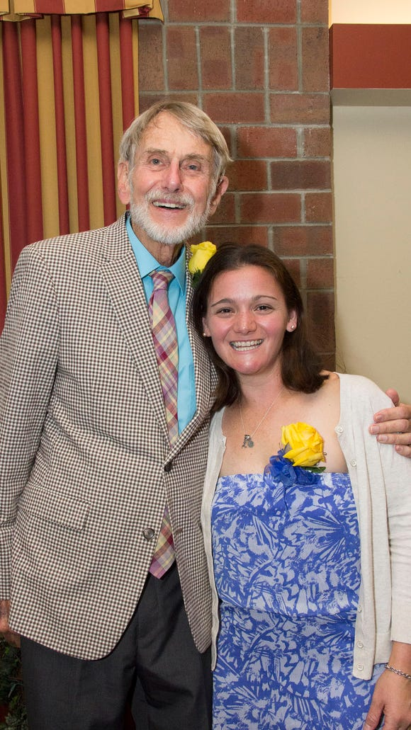 Charles Tomlinson and Becca Pizzi at the Alumni of the Year Banquet at Mars Hill University, Oct. 8.