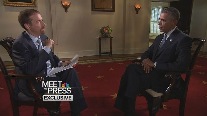 """NBC's Chuck Todd interviews President Obama for """"Meet the Press."""""""